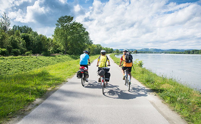 Danube Cycle Path in Austria