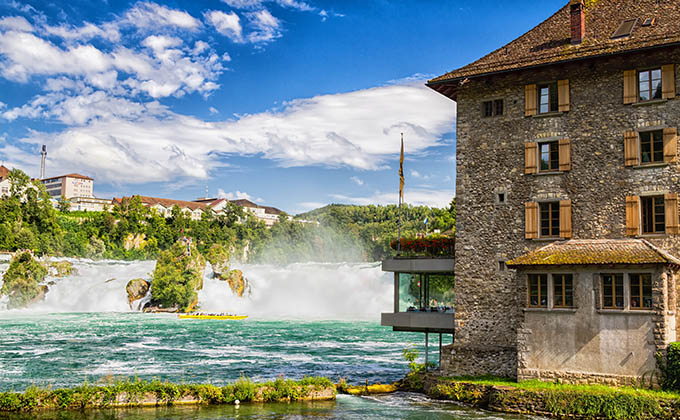 The Rhine Falls in Schaffhausen, Switzerland