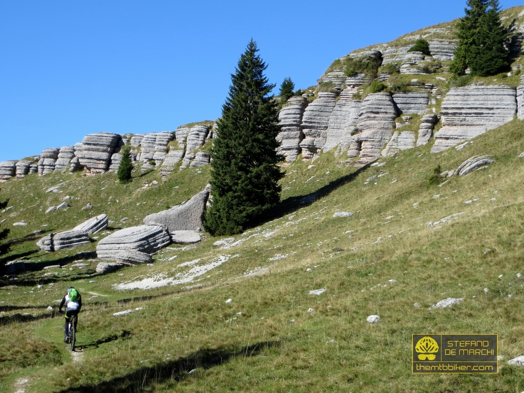 Cycling routes in Asiago highlands - The Stone City of Monte Fior