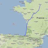la ciclorruta atlántica a París