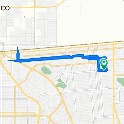De Avenida José María Larroque 1970, Mexicali a Avenida José María Larroque 1970, Mexicali