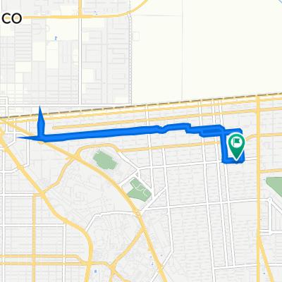 De Avenida José María Larroque 1970, Mexicali a Avenida José María Larroque 1972, Mexicali