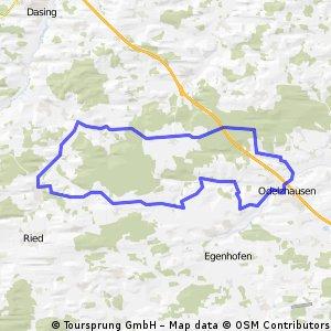 Odelzhausen - Eurasburg - Runde