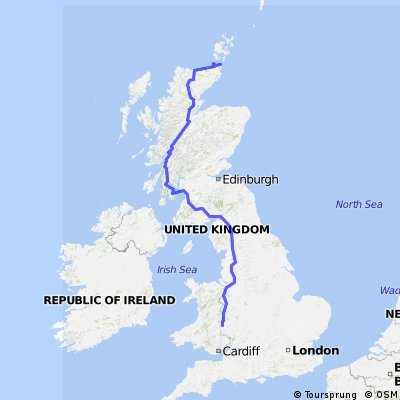 - CSC John O'Groats to Lands End via The Isle of Arran  CLONED FROM ROUTE 711431