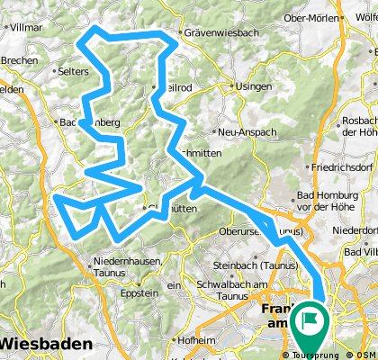 Taunusrunde - bergig CLONED FROM ROUTE 165273