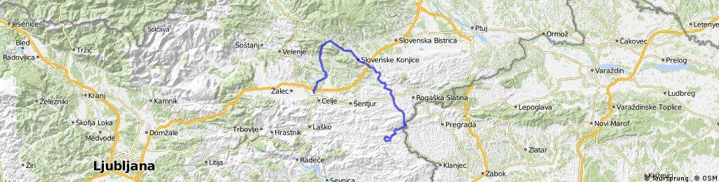 Celje-Vitanje-Loče-Sladka gora-Stranje-Kozjansko