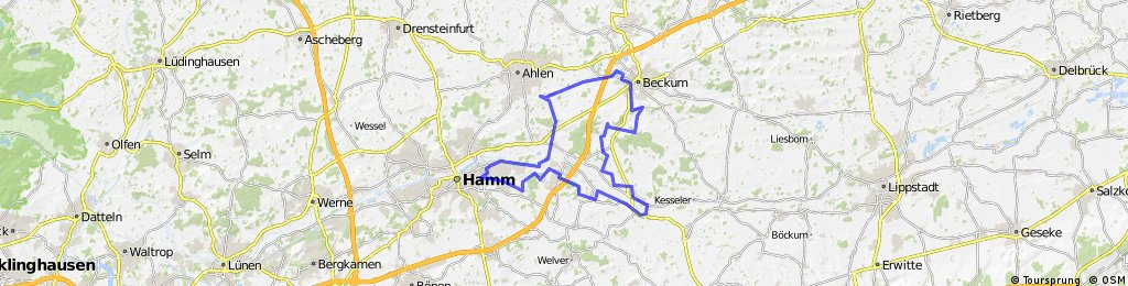 Radrunde Hamm Lippborg Beckum