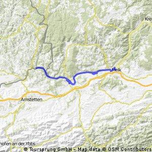 Podunají 2. den,St. Nikola - Melk, 52 km