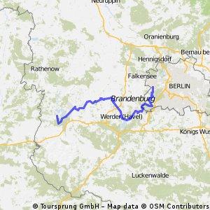 Havelradweg Teil 2 - Brandenburg (Kirchmöser) - Spandau (Pichelsdorf)