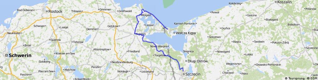 Świnoujście - wyspa Uznam - Szczecin