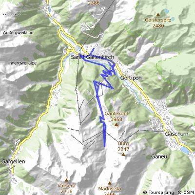 Sankt Gallenkirch - hinauf ins Skigebiet mit dem MTB