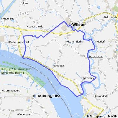 Tour de Wilstermarsch (Land unter Route 2)
