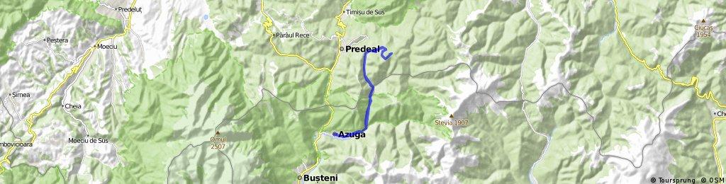 Azuga-Susai pe valea Limbaselului