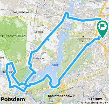 Zum Mauerradweg in Potsdam, Sarcrow, Gatow