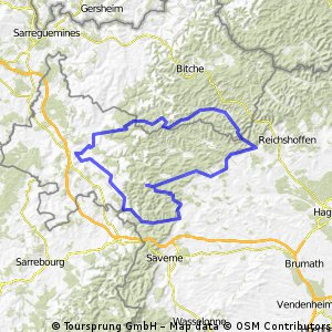 Thal-Baerenthal Rundkurs 117km CLONED FROM ROUTE 196386