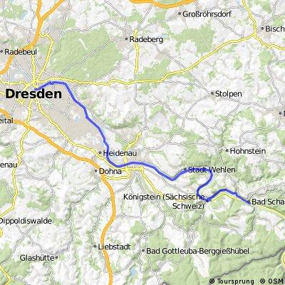 Bad Schandau nach Dresden