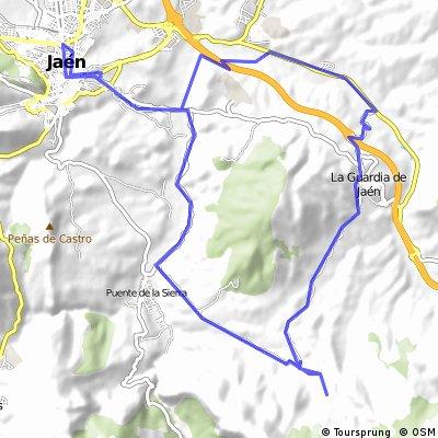 Jaen-Jontoya-Campo Olivo-La Guardia-Puerto Alto-Puente la Sierra-Jontoya-Jaen