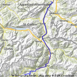 Oberriet - Chur - Valendas