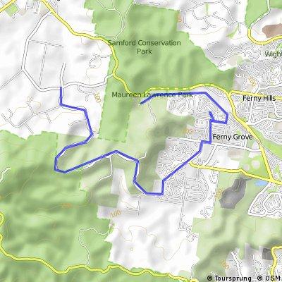 Lanita Rd add to McLean Rd Climb