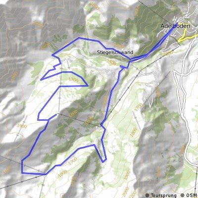 Biketour von Adelboden hinauf zum Sillerenbühl