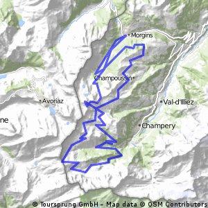 Kletter- und Downhillspass bei den Portes du Soleil