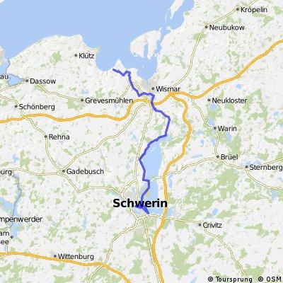 Schwerin - Lübstorf - Bad Kleinen - Wismar - Beckerwitz