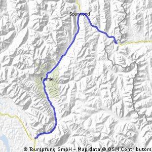 Dag 068a Island Lake - Elko 82 km
