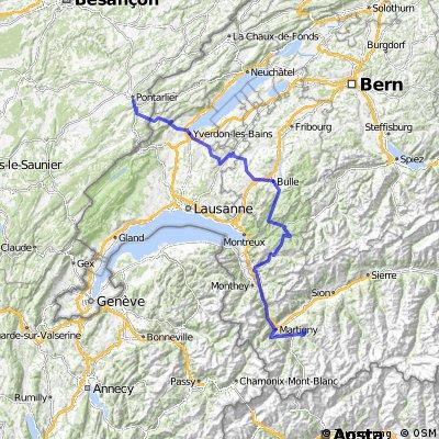 Etappe 15 Tour de France 2009 von Pontarlier nach Verbier