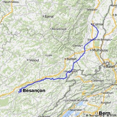 Etappe 14 Tour de France 2009 von Colmar nach Besançon