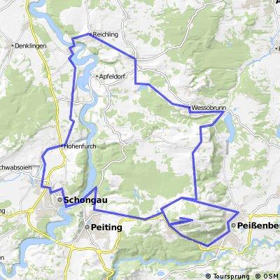 Anspruchsvolle Tour um den Hohenpeißenberg