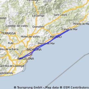Canet - Camp Nou per passeig de mar