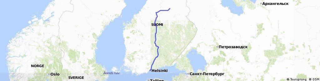 Kajaani-Helsinki 600 km