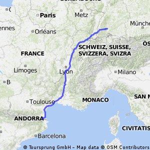 von 78052 VS nach Le Boulou (F)