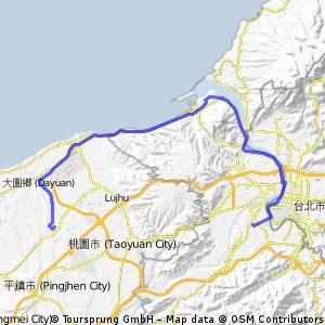 板橋火車站←→高鐵桃園站:120K練習路線