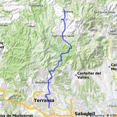 Terrassa-Can Torres-Les Arenes-Font del Platan-S. Llorenç Savall-Granera(ida)