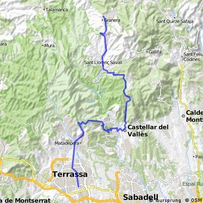 Terrassa-Can Torres-Castellar-Puig de la creu-S.Llorenç Savall-Granera(ida)