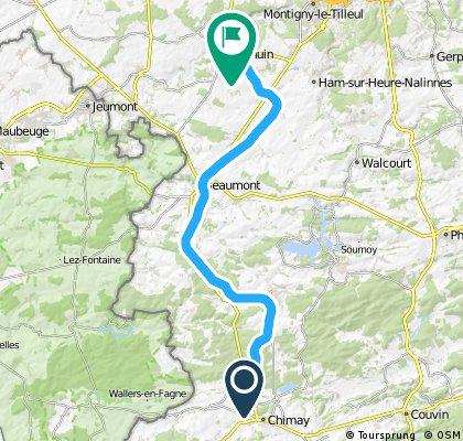 Voie Verte ( radweg ) Thuin - Chimay