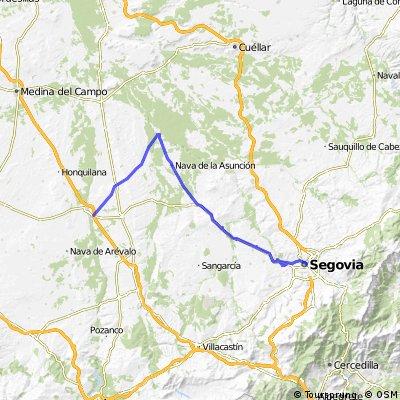 Spanien Segovia - Coca - Arevalo (Radtour mit Gepäck)