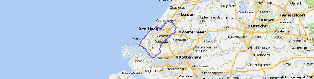 Karte Nordseeküste Holland.Den Haag Hoek Van Holland Delft Den Haag Bikemap Deine