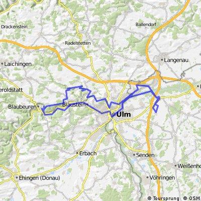 Nersingen - Rusenschloss Blaubeuren u.z.