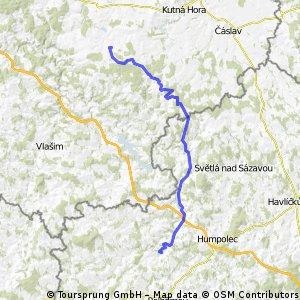 2011/06/07 - BERNARD TOUR - 2.etapa: Uhlířské Janovice - Želiv (přehrada Trnávka) - 66km