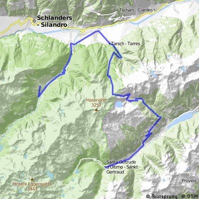 5a Martell - Tarscher Alm - Tarscher Pass - St. Gertraud