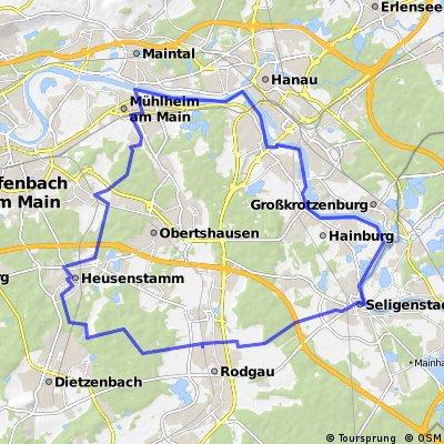 Rundweg Heusenstamm - Seligenstadt - Heusenstamm