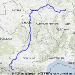 route naar Tourmalet