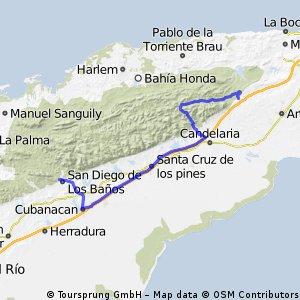 6. Etappe: Rio San Juan - San Diego de los Banos