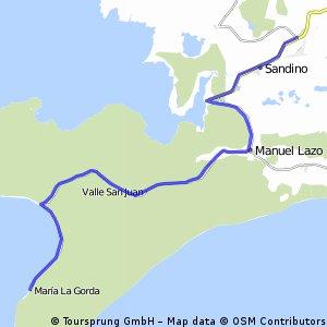 10. Etappe: Maria la Gorda - Sandino