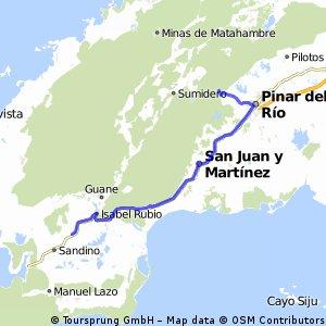11. Etappe: Sandino - Pinar del Rio