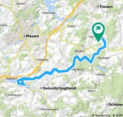 Mit dem E-Bike nach Oelsnitz und zurück