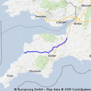 Bridgewater to South of Bude