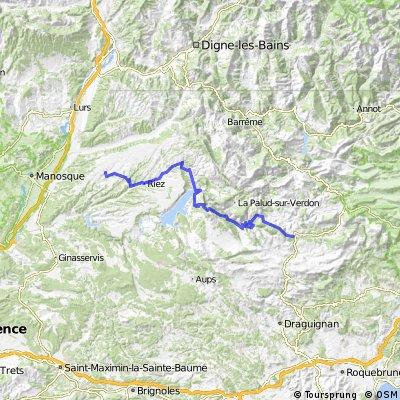 Strecke B: Comps sur Artuby-Valensole